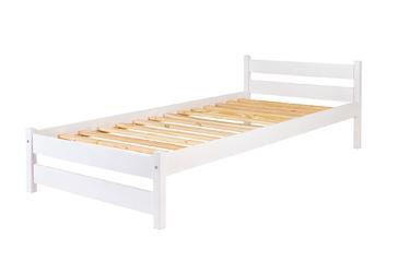 Łóżko drewniane Toronto 2.0 90x200 ze stelażem białe