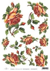 Papier ryżowy ITD A4 R426 róże