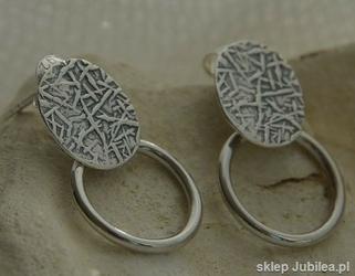 Mediolan - srebrne kolczyki