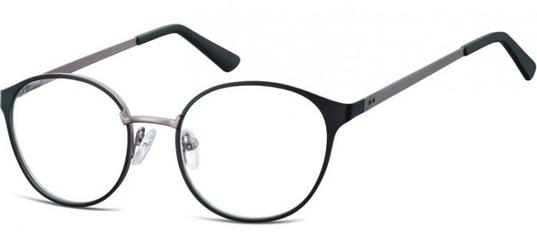 Oprawki okularowe kocie oczy damskie stalowe sunoptic 941 czarne