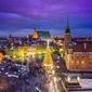 Warszawa plac zamkowy zimą - plakat premium wymiar do wyboru: 100x70 cm