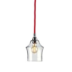 Kaspa - lampa wisząca - longis ii - czerwona - czerwony