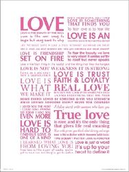 Love type - plakat premium