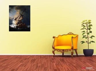 sztorm na morzu galilejskim - rembrandt van rijn ; obraz - reprodukcja