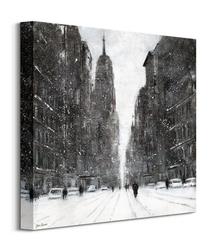Snow flurries 5th avenue - obraz na płótnie