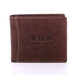 Brązowy portfel męski w stylu retro