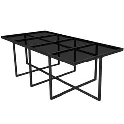 Zestaw ogrodowy stół + krzesła 12 osób borto iii czarny