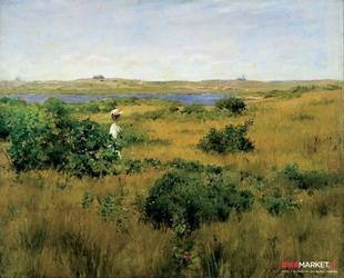 lato w shinnecock hills -  william chase ; obraz - reprodukcja