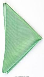 Poszetka jedwabna 33x33cm, zielona