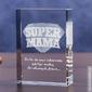 Odznaka 3d »super mama« • personalizowana statuetka 3d • grawer 3d