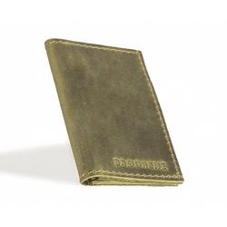 Skórzany cienki portfel slim wallet brødrene  sw03 zielony