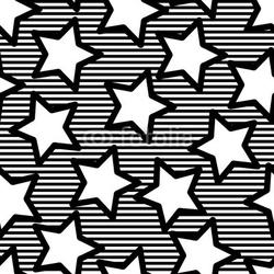 Obraz na płótnie canvas czteroczęściowy tetraptyk retro czarne bezszwowe tło gwiazdy