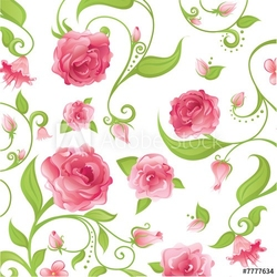 Obraz na płótnie canvas czteroczęściowy tetraptyk różowe róże
