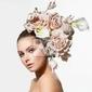 Obraz dziewczyna z hair beauty fashion flowers. bride. kreatywne fryzura