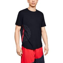 Koszulka męska under armour baseline flip side ss tee - czarny