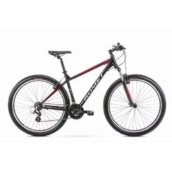 Rower górski romet rambler r9.0 2020, kolor czarny-czerwony, rozmiar 17