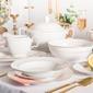 Zestaw obiadowy na 6 osób porcelana mariapaula złota linia 23 elementy