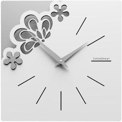 Kwadratowy zegar na ścianę merletto calleadesign szara śliwka 56-10-1-34