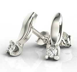 Kolczyki z białego złota z diamentami lpk-8108b - wysyłka w następny dzień roboczy - sprawdź dostępność