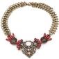 Naszyjnik na ozdobnym łańcuszku stare złoto różowy - pink