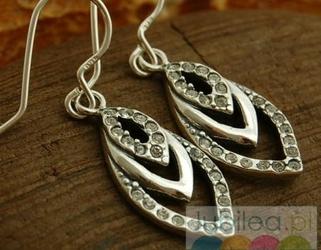 Płomyk - srebrne kolczyki z cyrkoniami