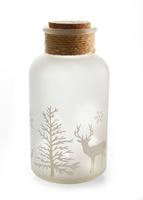 Dekoracyjna butelka szklana led quot;zimaquot; bonprix biały oszroniony