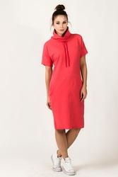 Dresowa sukienka z golfem irmina koralowa