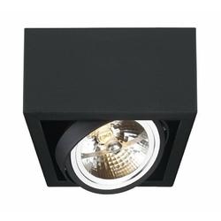 Kaspa - oprawa stropowa natynkowa pojedyncza - cube - czarna - czarny