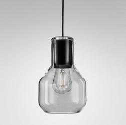 Aqform :: lampa wisząca modern czarna dymiony klosz śr. 10,6 cm