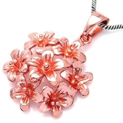Primavera srebrny wisiorek z różowym złotem