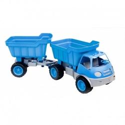Samochód active z przyczepą ciche koła mochtoys niebieski