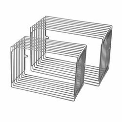 Półka Wires prostokątna 2 szt. szara
