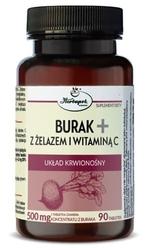 Burak+ z żelazem i witaminą c x 90 tabletek