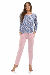 Sesto senso agnieszka long różowa piżama damska