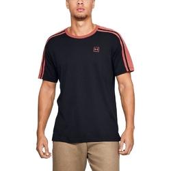 Koszulka męska under armour unstoppable striped ss t - czarny
