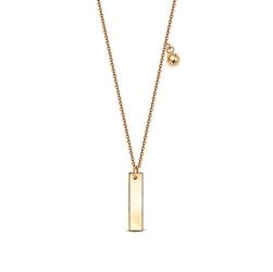Staviori naszyjnik żółte złoto 0,333 z podłużną blaszką i kuleczką.