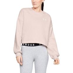 Bluza damska under armour rival fleece graphic lc crew - różowy