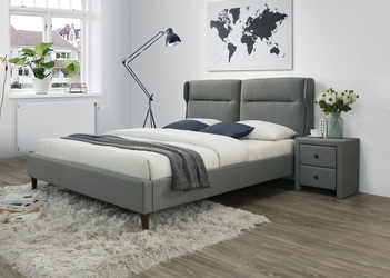 Łóżko tapicerowane tkaniną z wezgłowiem - 160 x 200 cm - santino