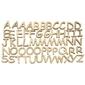Alfabet drewniany do decoupage 56 elementów