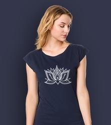 Lotos pulpet t-shirt damski granatowy xxl
