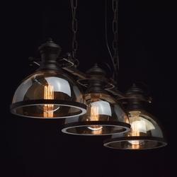 Lampa wisząca trzy klosze w kolorze brązowym mw-light megapolis 682012103
