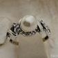 Alvaro - srebrny pierścionek perła i krsyztały