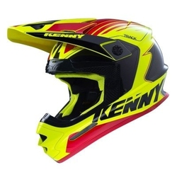 Kenny kask off-road track yellow red