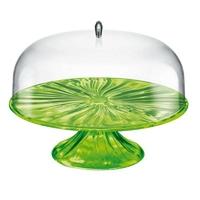 Guzzini - aqua - patera na ciasto 27,00 cm, zielona - zielony