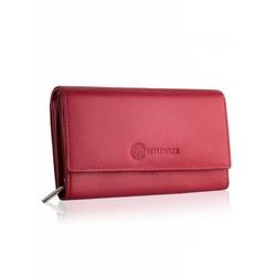 Elegancki damski portfel betlewski bpd-ss-12 czerwony