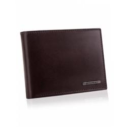 Skórzany portfel betlewski bpm-vtc-61 brązowy