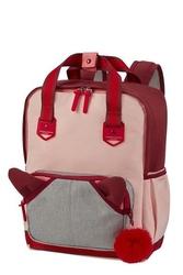 Plecak sam school spirit różowo-bordowy m - różowo-bordowy