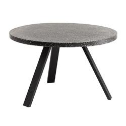 Kamienny stół ogrodowy shan śr.120 czarny