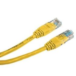 Utp patchcord utp patchcord, cat.6, rj45 m-1m, nieekranowany, żółty, economy