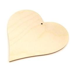 Drewniane serce do zawieszenia 75x73x3 mm - s75